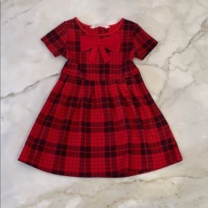 Girls red plaid holiday dress. H&M Sz 2-4